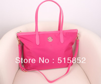 new women's handbag shoulder bag nylon+PU leather bag 40x28x15.5cm free shipping 9011