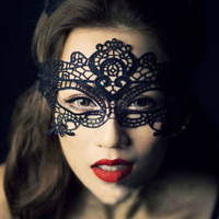 free shipping halloween masks black sexy lace veil mask prom bars nightclubs masks PFW019