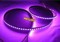New 1M Black PCB WS2811 Digital RGB LED Strip Light 144 Pixel LEDs 5050 RGB SMD WS2811 IC WS2812B IC Water Flash Color DC5V