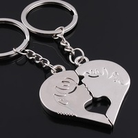 best selling fashion key chains couple for lovers key rings high quality Valentine's Day Gift wholesale chain 10pairs/lot 507