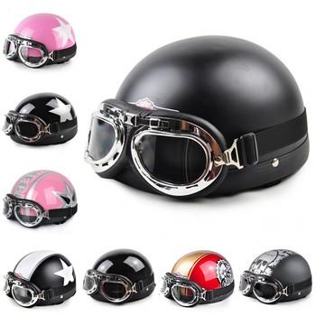 Free shipping Motor Cross Helmet  Off Road Helmet  Vespa Open Face Half  Motorcycle  Motorcycle Helmet & Goggles & Visor NO.1-47