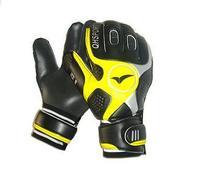 QIONGHUA goalkeeper glove good quality  yellow &black
