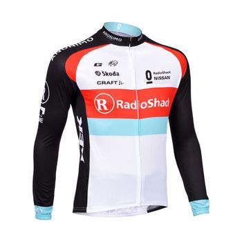 2015 winter long sleeve bike jersey/ 2015 winter Radioshack cycling jersey made with thermal fleece 10#