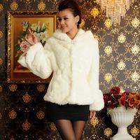 2015 New Fashion Short Style Fall Winter Warm Luxury Overcoats Partysu Rabbit Fur jacket Women's  Fur Outerwear Coat  A525