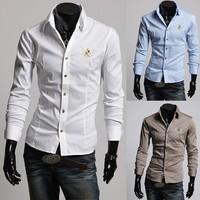 Free shipping 2014 Men's Slim Luxury Stylish Casual Shirts New Mens Shirts Casual Slim Fit Stylish Mens Shirts