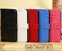Crocodile Croco Leather Card Holder Wallet Pouch Case for Samsung Galaxy S4 mini i9190 i9192 9190  1pcs/lot