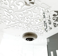 2014 New Hot Fashion Ikea Style Europe Ceiling Mirror StickersTile Stickers 3D Wall Stickers