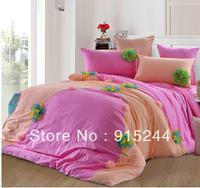 Bed Mattress cover Bed sheet Bedskirt Bedding 6pcs set HomeTextile free cushion summer Pink Blue chiffon wedding  lace Bedspread