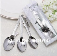 "FREE SHIPPING BY FEDEX ""Love Songs"" Stainless-Stee Measuring Spoons in Gift Box Wedding favors Baby shower gifts"