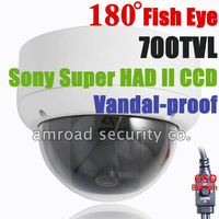 "Fisheye 180 Degree 700TVL 1/3"" Sony HAD II CCD Enhanced Effio Vandal-proof  Fish Eye Surveillance CCTV Dome Camera  BN-FE180LDV"