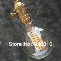 Free shipping+Copper pendant light+G80 Edison bulb lamp +1m wire+ chassis, light bulbs  pendant light holder bar lighting
