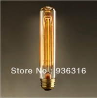 Free shipping Vintage 1pcs T185 tungsten halogen bulbs E27 edison bulb line bulb for restaurant club coffe bar glass light bulbs