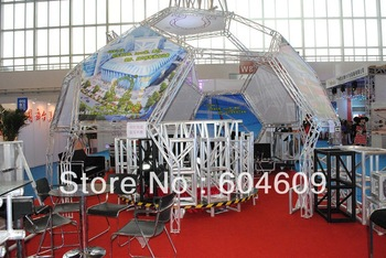 Mini Exhibition Special design bolt truss booth 100x100mm