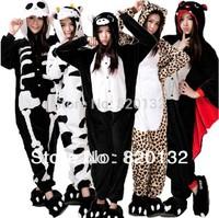 Free Shipping Anime Cosplay Costume Zebra Animal Pajamas Adult Cartoon Animal Costume Onesies Women Sleepwear Jumpsuits