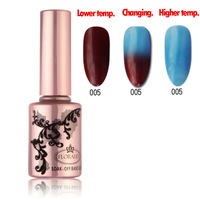 Free shipping!!! Fast Delivery! Florales 12 Colors High Quality Temperature Change Color Gel Polish 100 pcs/ lot