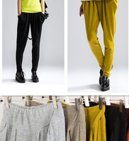 Free Shipping 2013 New Fashion French cashmere Loose Harem Pants Cotton Women Leggings Ladies' Pants Trousers Multi-colored