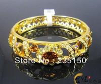 Fashion Jewelry Alloy Rhinestone Carved Bangle Bracelet Rhinestone Bracelet, Austria