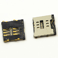 New sim card reader slot Tray holder connector Replacement for iPhone 4 4g 4gs 4S Plug Free Shipping 20pcs/lot