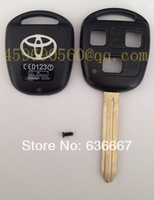 free shipping TOY43-3B TOYOTA KEY SHELL, TOY43 blade 3 BUTTONS HOLE, high quality
