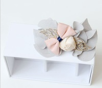 Sample order 2013 Free shipping High-grade chiffon bowknot hairpin by hand Wedding hair accessories Han edition hair F0048