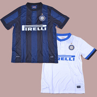 INTERNAZIONALE MILANO 13/14 Top Thail Quality Soccer jersey football kits Embroidery Logo Uniform 100% Polyester free shipping