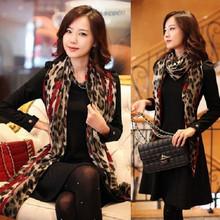 Women Girl Leopard Shawl Gauze Long Wrap Stole Chiffon Soft Scarf High Quality(China (Mainland))