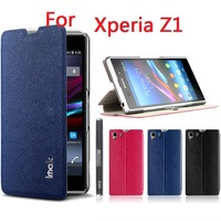 HK post free ship Original iMak Series Leather Case For Xperia Z1 Leather Case for Sony L39H With Screen Protector + Retail box