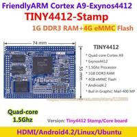 FriendlyARM Exynos Quad core Cortex A9 TINY4412 Stamp Module 1G RAM + 4G Flash Core Board Android 4.2