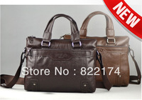 2014 new famous designer men's genuine Cowhide leather Briefcases Bags&cross body computer bag for male 52