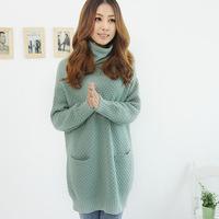 Free shipping 2013 new autumn and winter scarves Korea long-sleeved collar long sweater loose sweater women cheap