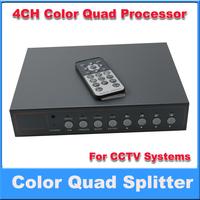 4CH Color Video Quad  Processor 4Splitter for CCTV System