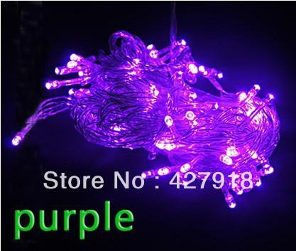 2 pieces Hot 100 LED 10M XMAS Party Wedding Tree Decoration String Light EU US UK Plug led strip free shipping(China (Mainland))