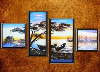 Handmade Craft Oil Paintings Modern art Wall decoration Living room Gift