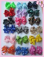 100pcs/lot 18 colors,.10cm hair bow,100pcs/lot,baby girl hair clips,fascinators