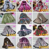 mix color 5pcs classic designer fashion girl new faux silk small scarf chiffon scarves women summer fall shawl 2013 cape