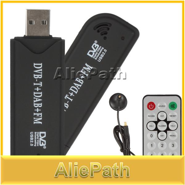 RTL-SDR / FM+DAB / DVB-T USB 2.0 Mini Digital TV Stick DVBT Dongle SDR with RTL2832U & R820T Tuner Receiver + Remote Control(China (Mainland))