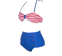 Free Shipping Drop ship New HIGH WAISTED Bikini Swimwear Swimsuits Suits 1294C