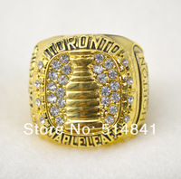Free Shipping !Men's replica 18k gold plated Toronto Maple Leafs Stanley Cup Hockey World   Championship rings as gift.