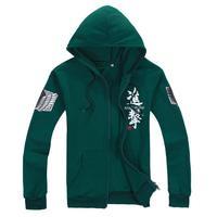 2013 New Anime Attack on Titan Mikasa Ackerman Long sleeve hoodie sweatshirt outerwear Sweatshirts Free shipping