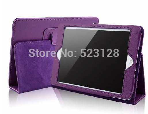 1pcs free shipping for ipad mini 2 1 case folio Business PU Leather Stander Case For Apple i Pad Mini 1 2 Table PC Smart Cover(China (Mainland))