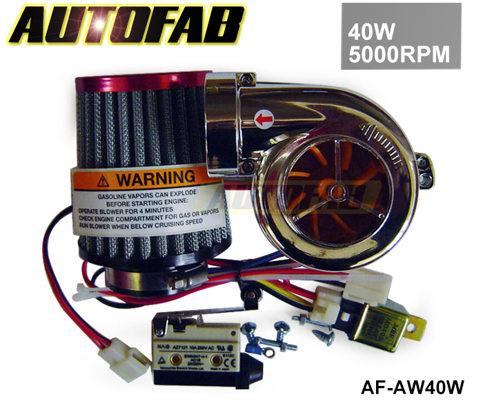 AUTOFAB - NEW MOTOR ELECTRICAL TURBOCHARGE 40W 5000RPM / SUPERCHARGER KIT / UNIVERSAL FIT RIDE ON MOWER AF-AW40W(China (Mainland))