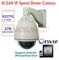 New IP Network High Speed Dome PTZ Camera 27X Optical Zoom 128 Presets 3.78-83.7mm lens IP Network High Speed Dome PTZ Camera