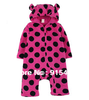 Free shipping 2013 new, Autumn Romper baby clothes for boys and girls spring and winter coral velvet newborn clothes climbing