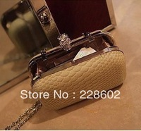 Day clutch women's handbag 2013 serpentine pattern skull evening bag one shoulder bag cross-body small mobile phone bag casual