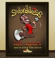 Football coffee decorative painting modern brief child cartoon paintings mural wall painting box art