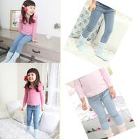 2014 New Arrive baby & kids girl jeans, children skinny pants,children's fashion 2014 girls clothing