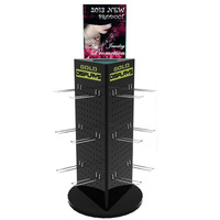 Large black acrylic jewelry display stand,hot sale 3 side acrylic accessory display stand