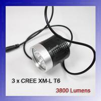 3800-Lumen 3T6 LED High Power Bike Light For 3*Cree XM-L T6 4-Mode LED bike light Kit + Free Shipping