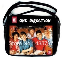 new fashion one direction message bag,1D school bag,cool bags for boy and girl,send design by random