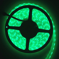 Free Shipping 12V 5A DC SMD 5050  300 LED strip Flexible Light Strip bright festival LED lighting,waterproof single green color